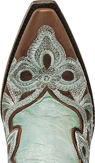 Old Gringo turquoise & brown cowboy boots