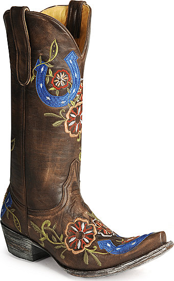 Old Gringo brown & blue cowboy boots