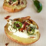 Baked Potatoes stuffed with Bacon & Jalapenos