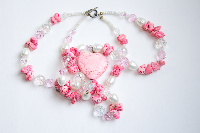 Jewels of the Southwest Pretty Pink Heart Necklace
