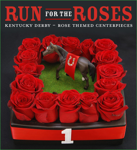 Run For The Roses Kentucky Derby Themed Centerpiece