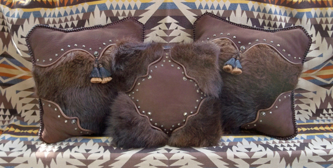 Stargazer Mercantile buffalo collection pillows
