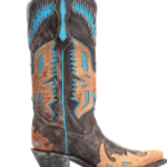 Corral Black & Turquoise Cowboy Boots
