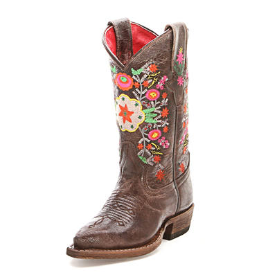 Macie Bean Kids Floral Cowboy Boots