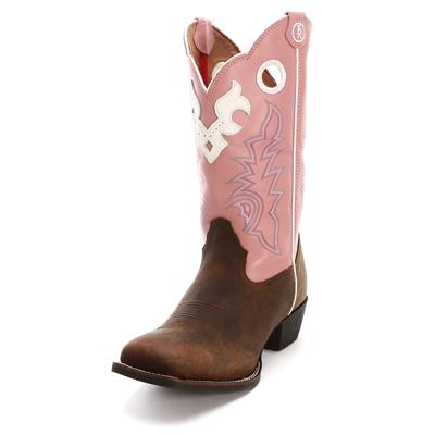 Pink Kids Tony Lama Cowboy Boots