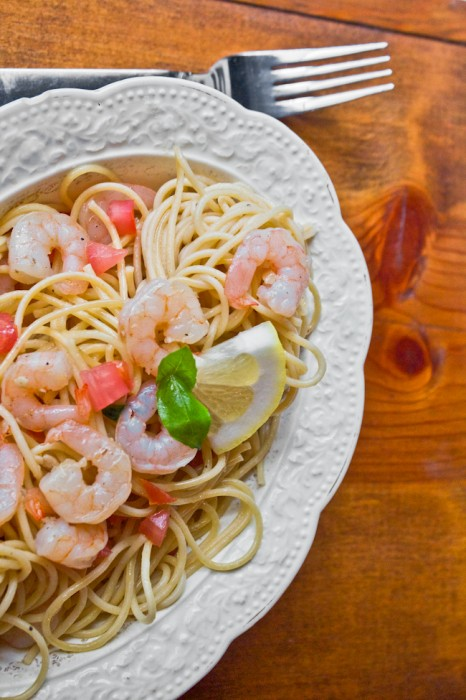 Shrimp & Tomato Summer Pasta