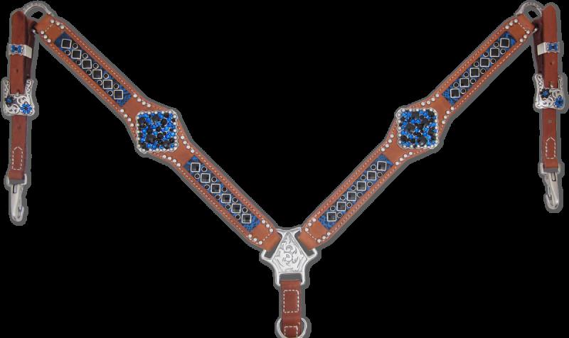 Heritage Brand Blue Inlaid Breast Collar