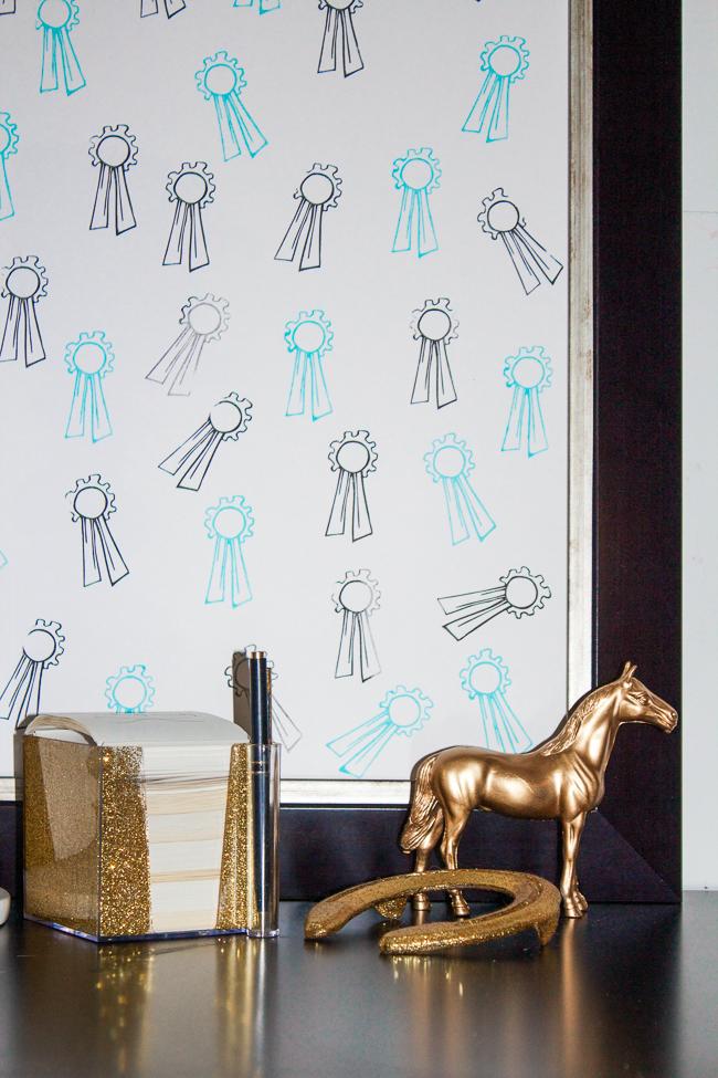 DIY Horse Show Ribbon Stamp Art