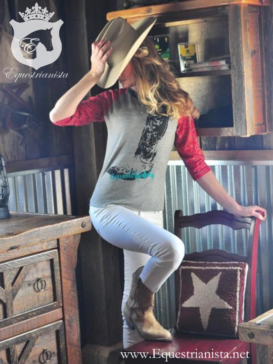 Cowboy Boot tee by Equestrianista