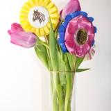 DIY Ribbon Floral Arrangement in a Vase