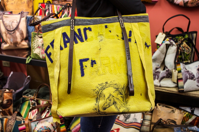 Totem Salvaged Yellow Equestrian Bag