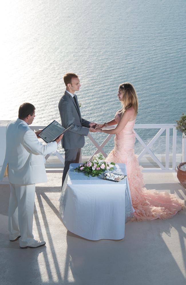 Wedding with a view, Santorini, Greece