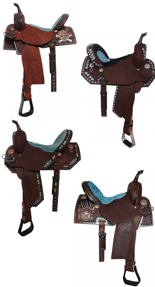 Pretty Turquoise Saddles | 10 Turquoise Saddles by Double J