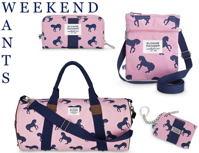Sloane Ranger Horse Print Bags