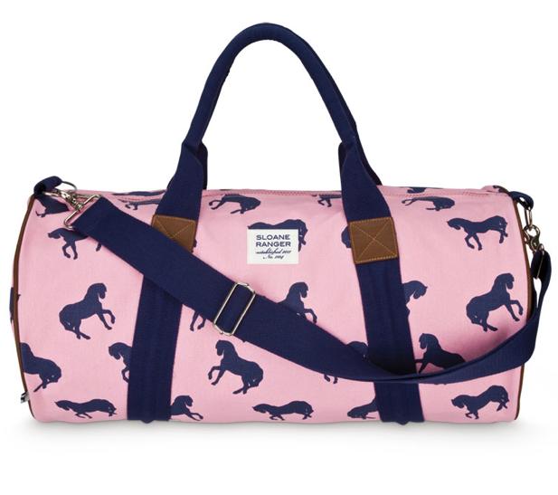 Sloane Ranger Horse Print Duffle Bag