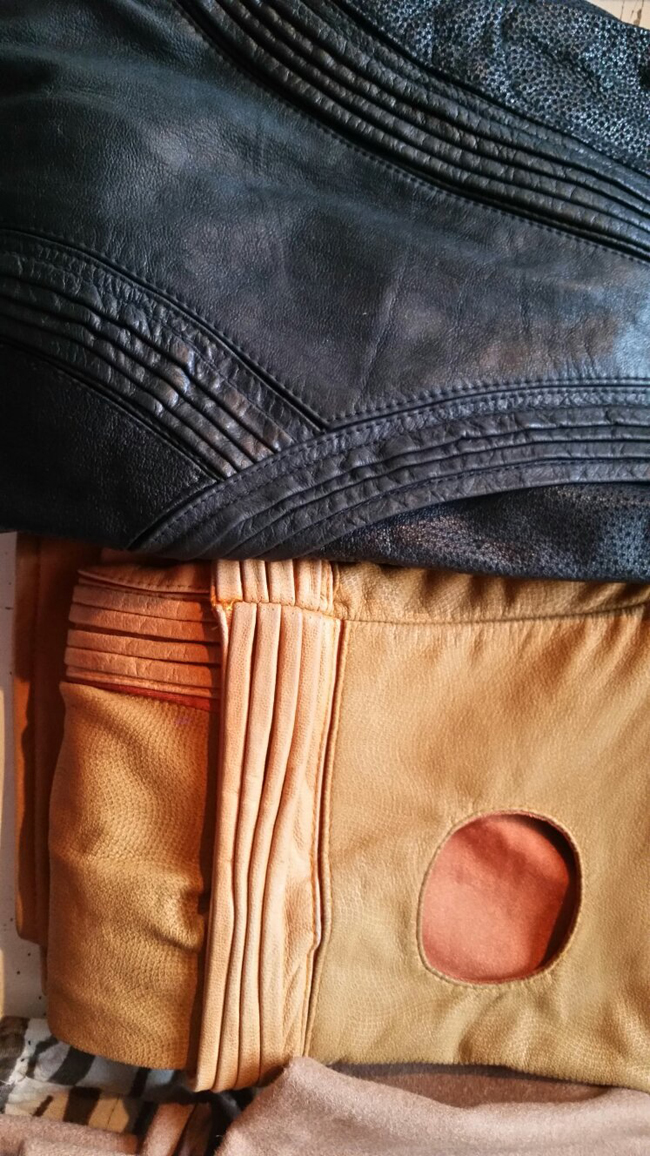 Leather Riding Breeches in Black and Tan