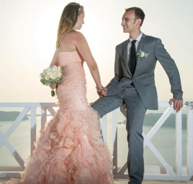 Wedding day in Santorini, Greece