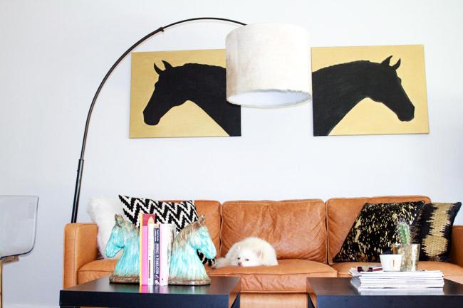 DIY: Cowhide Lampshade
