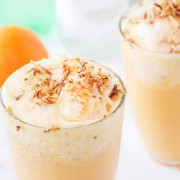 Malibu Sherbert Floats with Toasted Coconut