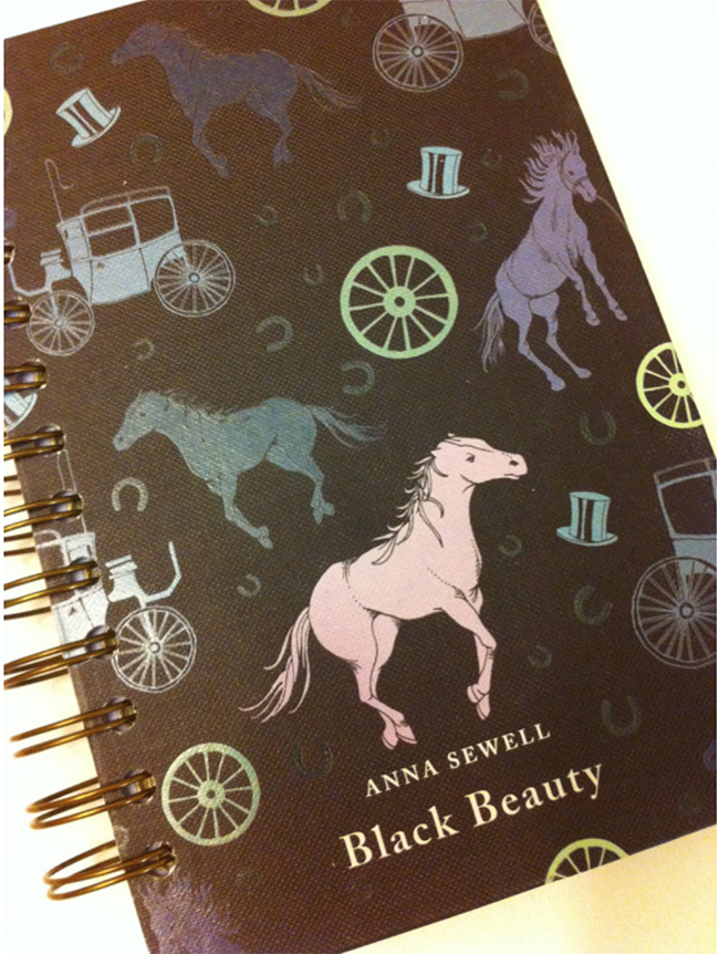 Black Beauty Recycled Journal Notebook