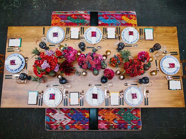 Bright and bold tablescape