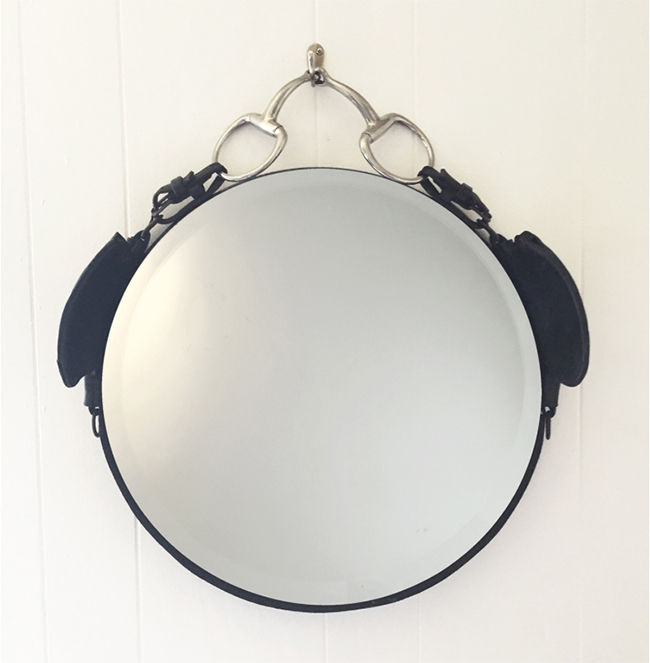Leather Draught Blinder Mirror