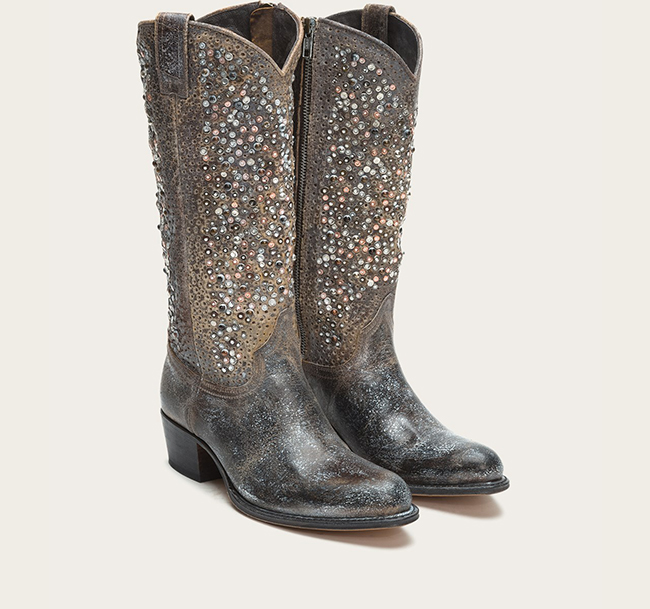 Deborah Frye Studded Tall Boot