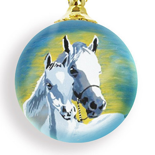 Horses Christmas ornament by Salvador Kitti