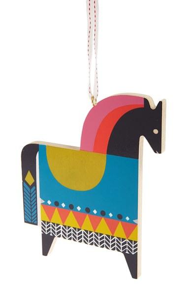 Wooden horse ortament