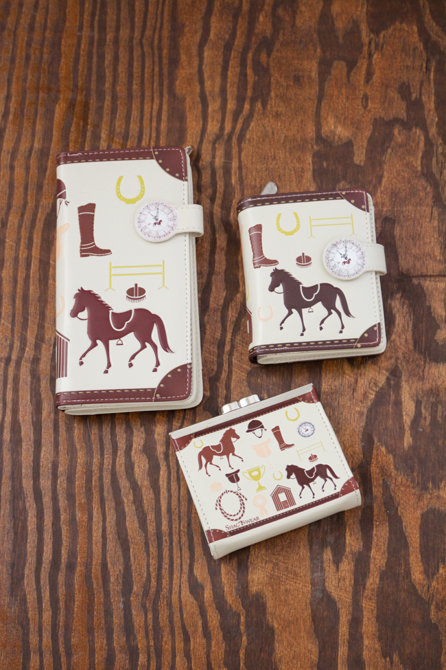 Equestrian print wallets and change purse