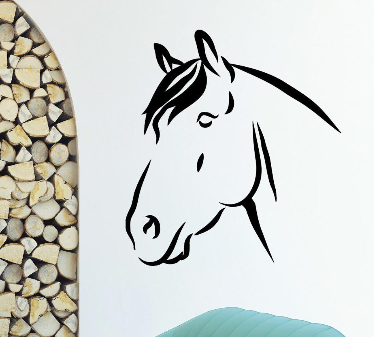 Horse head wall decal