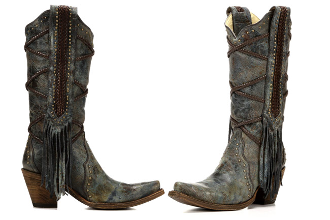 Corral Distressed Blue Boots