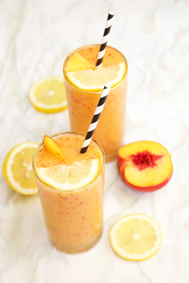 Frozen peach blender lemonades