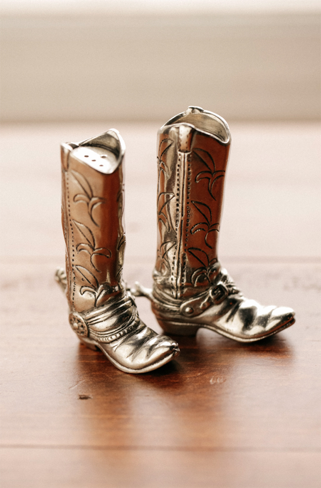 cowboy boot salt and pepper shakers