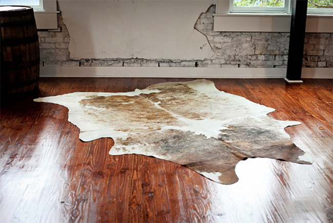 cowhide rug from Bourbon & Boots