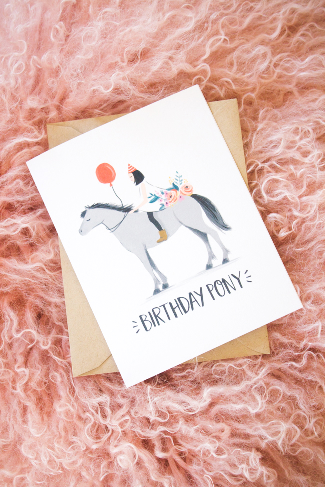 Paper Pony Co. birthday card